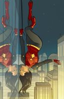 Spider-Woman in Color by Supajoe