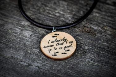 I solemnly swear I am up to no good necklace by Pia-CZ
