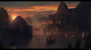 A Ha Long Sunset by Shue13