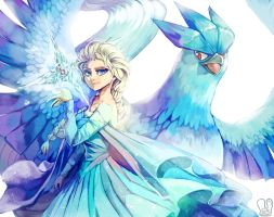 Frozen x Pokemon : Elsa and Articuno