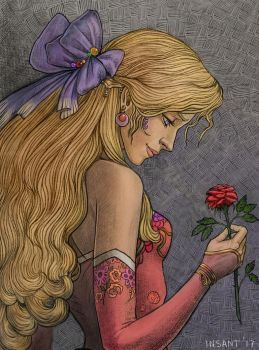 Terra with a rose by Insant