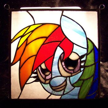 Stained Glass Rainbow Dash by Fetchbeer