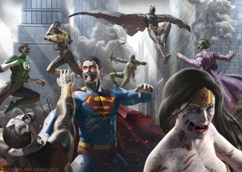 DC Zombies: Long Beach Comicon and Horror Con 2013 by JophielS