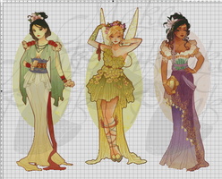 WIP-Nouveau Princess Patterns (Hannah-Alexander)2 by pinkythepink
