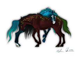 Art Trade: Exo and Cas by THE-WEATHERED-RAVEN