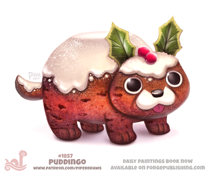 Daily Paint 1857# Puddingo by Cryptid-Creations