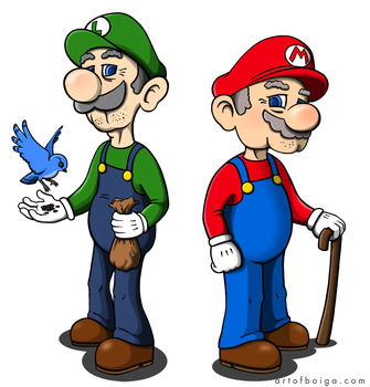 Mario and Luigi retired by blind-dancer