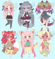 NEW ADOPTABLES by minnoux