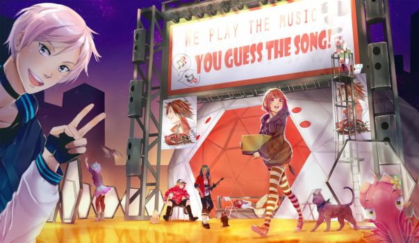 RE:V: NOS GUESS THE SONG BOOTH by tooaya