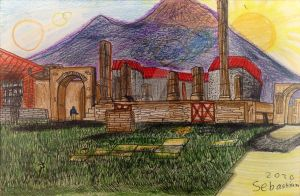 Temple of Giove, Pompeii (2010) by ArtRock15