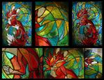 Fox ''stained glass'' details by rivalmit
