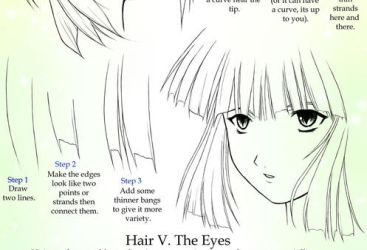 Drawing Anime Hair: Bangs by Crysa