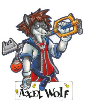 Kingdom Hearts conbadge by AxelWolf04
