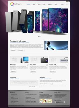 X-tech html template by Shegystudio