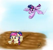 Twilight x Mayday - Mother/Daughter Flying Lessons by Jamal2504