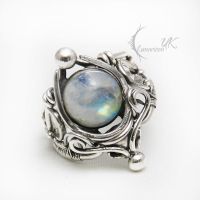 UNTUNVILH Silver and Moonstone. by LUNARIEEN
