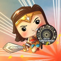 Wonder Woman Funko Pop Art by DustinEvans
