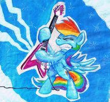 I wonder what song she's playing... by Graffegruam