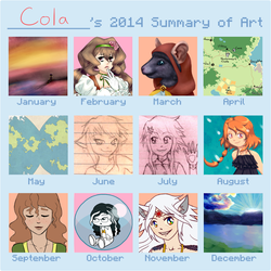 Cola's 2014 Art Summary by NicolaCola