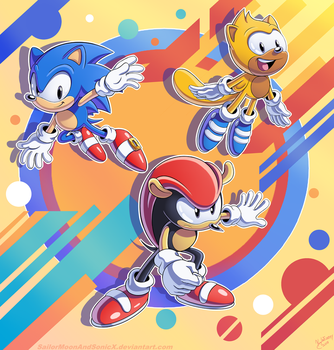 Classic Heroes by SailorMoonAndSonicX