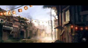 Speed painting city by Reicheran