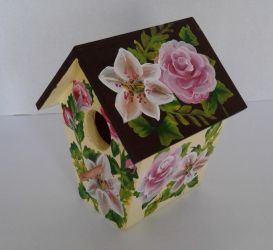 Custom made Rose and Lillie Birdhouse by sweetpie2
