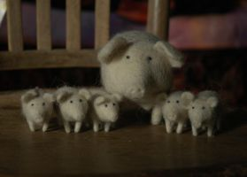 sow with piglets by vriad-lee