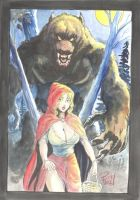 Red Riding Hood and Big Bad Werewolf by Bud Root by riverine69
