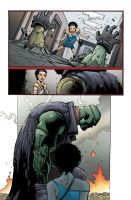Seven Soldiers: Frankenstein #1 page16 colored by tommullin