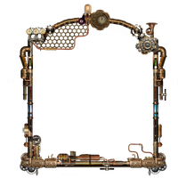 Steampunk Frame PNG by LG-Design