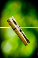 Clothespin on a wire by Teaminds