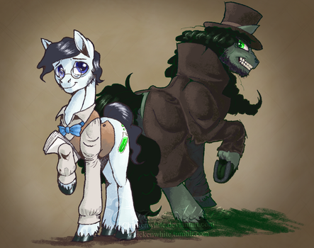 Dr. Jekyll and Mr. Hyde ponies by Chickenwhite
