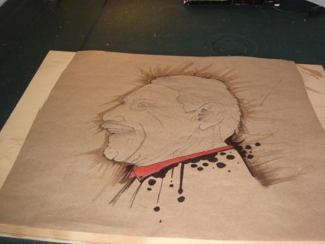 Brown paper art 4 by Polomolina