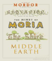 Middle Earth lettering by SirInkman