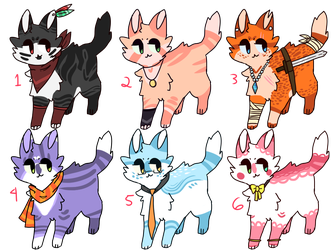 Cat Adoptables [CLOSED] by TangerineAdopts
