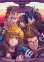Four Guys in a Car by Ry-Spirit