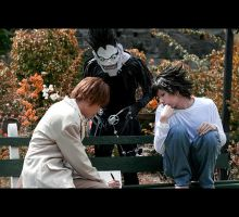 dn shoot - light, L and ryuk by pilya