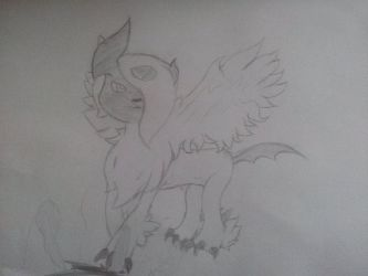 Mega Absol Sketch by PokemonBWishesCilan