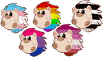 Hedgehog stickers by Redpandaseas