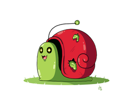 Maplestory Fusion: Slime + Red Snail by JoTheWeirdo