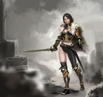 Girl with plate armour_06 by Budin87