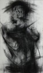 [90] Untitled Charcoal  On Canvas 162 X 96 Cm 2013 by ShinKwangHo
