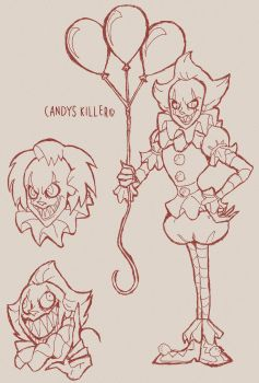 PENNYWISE DOODLES by Candys-Killer