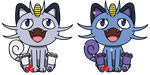 Pokemon #052 - Meowth - Alolan Form by Fyreglyphs