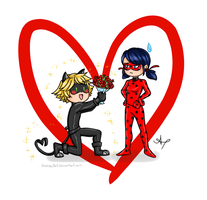 Day 07: Ladybug and Chat Noir by Andrea365