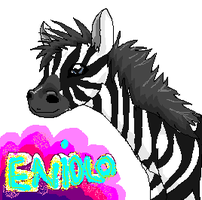 Zebra for a friend by Whispering-forests