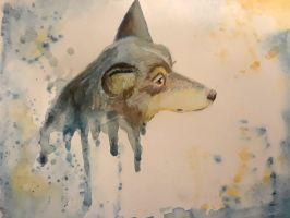 Watercolor dog by chill13