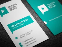 Flat Corporate Business Card by nazdrag