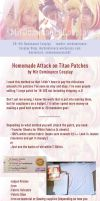 Attack on Titan: Home Made Patches Tutorial by animeobsession02