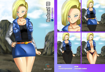 Android 18 - PSD by BlueGraves7